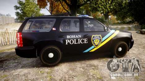 Chevrolet Tahoe 2010 Sheriff Bohan [ELS] para GTA 4 esquerda vista