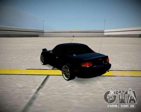 Mazda MX-5 JDM para GTA San Andreas traseira esquerda vista