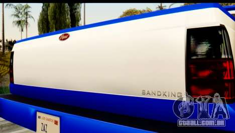 GTA 5 Vapid Sandking XL IVF para GTA San Andreas vista traseira