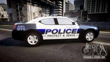 Dodge Charger 2006 Algonquin Police [ELS] para GTA 4 esquerda vista
