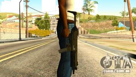 MP5 from GTA 5 para GTA San Andreas terceira tela