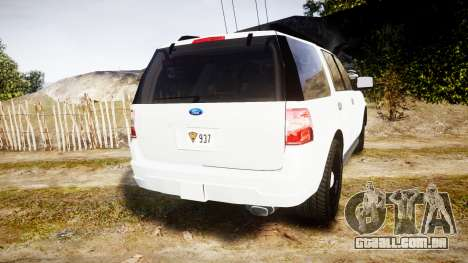 Ford Expedition West Virginia State Police [ELS] para GTA 4 traseira esquerda vista