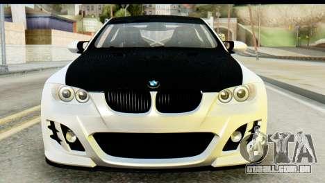BMW M3 GTS Tuned v1 para GTA San Andreas vista traseira