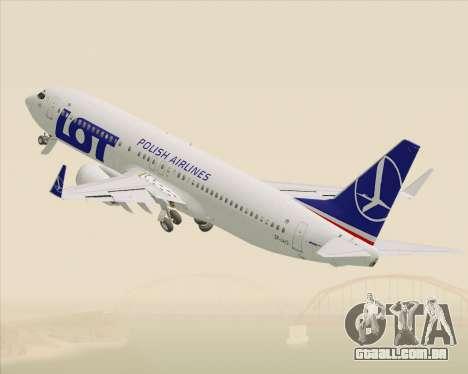 Boeing 737-800 LOT Polish Airlines para GTA San Andreas vista inferior