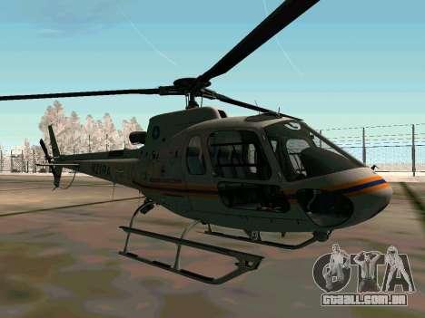 Bo 105 EMERCOM da Rússia para GTA San Andreas vista traseira