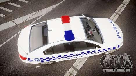 Holden VF Commodore SS Victorian Police [ELS] para GTA 4 vista direita