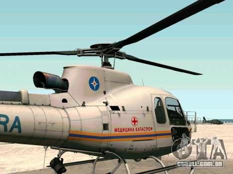 Bo 105 EMERCOM da Rússia para GTA San Andreas esquerda vista