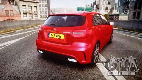 Mersedes-Benz A45 AMG para GTA 4 traseira esquerda vista