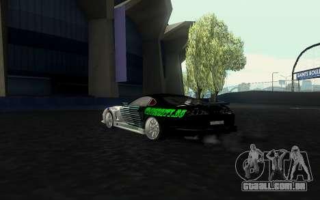 Toyota Supra VCDT para GTA San Andreas esquerda vista