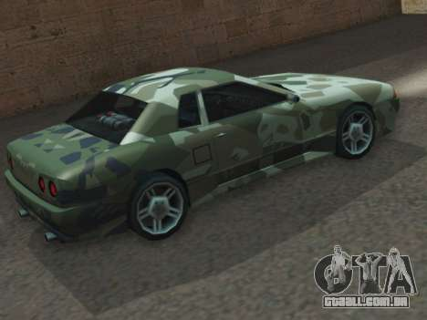 Elegy GTR para GTA San Andreas esquerda vista