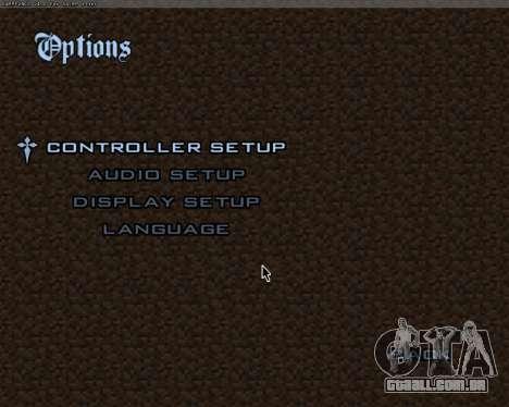 Minecraft Menu para GTA San Andreas segunda tela