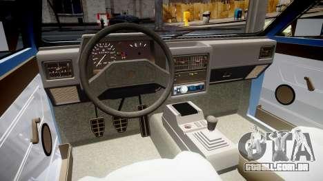 Volkswagen Voyage 1990 para GTA 4 vista interior