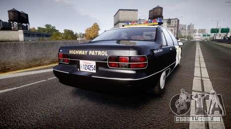 Chevrolet Caprice Highway Patrol [ELS] para GTA 4 traseira esquerda vista