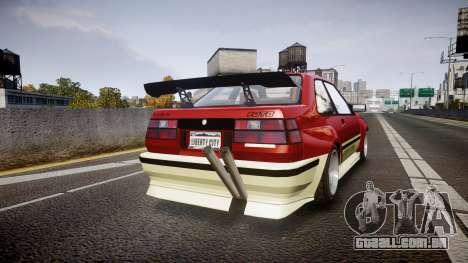 Karin Futo Drift X para GTA 4 traseira esquerda vista