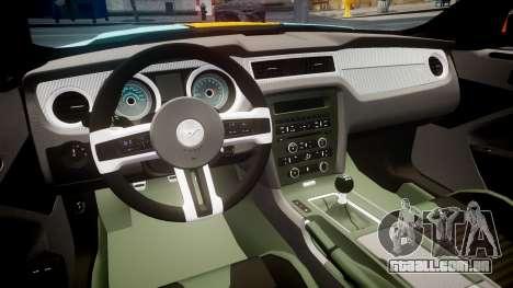 Ford Mustang Boss 302 2013 Gulf para GTA 4 vista de volta