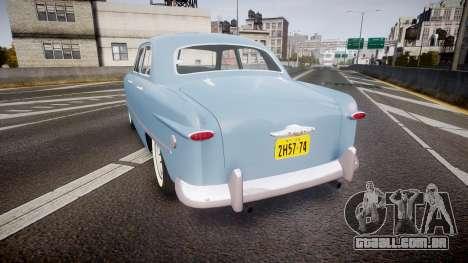 Ford Custom Fordor 1949 para GTA 4 traseira esquerda vista