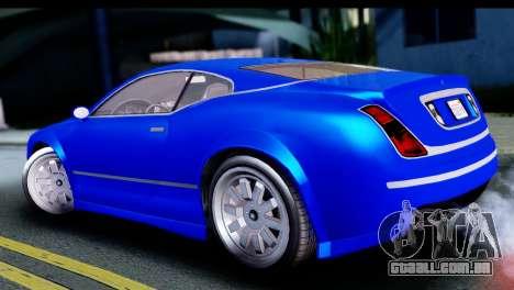 GTA 5 Enus Cognoscenti Cabrio para GTA San Andreas traseira esquerda vista