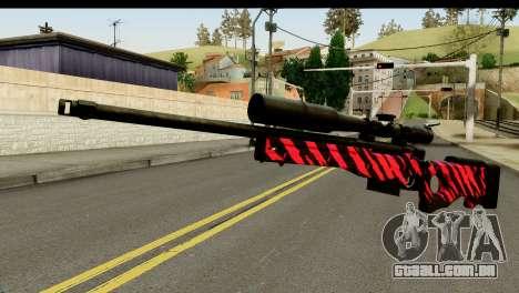 Red Tiger Sniper Rifle para GTA San Andreas