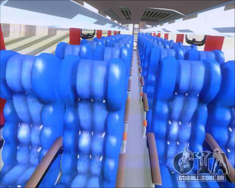Busscar Vissta Buss LO Cometa para GTA San Andreas vista interior