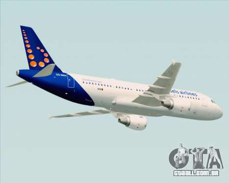 Airbus A320-200 Brussels Airlines para GTA San Andreas vista interior