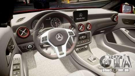 Mersedes-Benz A45 AMG para GTA 4 vista lateral