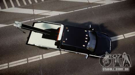 Dodge Ram 3500 NYPD [ELS] para GTA 4 vista direita
