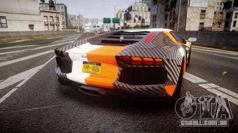 Lamborghini Aventador 2012 [EPM] Hankook Orange para GTA 4 traseira esquerda vista