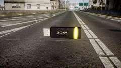 A unidade flash USB da Sony amarelo