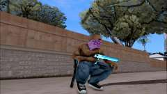 Blueline Gun Pack para GTA San Andreas