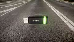 A unidade flash USB da Sony verde