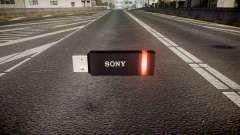A unidade flash USB da Sony vermelho