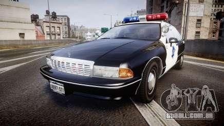 Chevrolet Caprice 1990 LCPD [ELS] Patrol para GTA 4