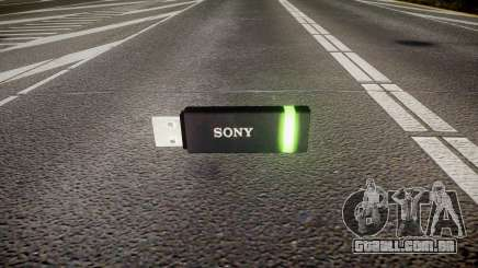 A unidade flash USB da Sony verde para GTA 4