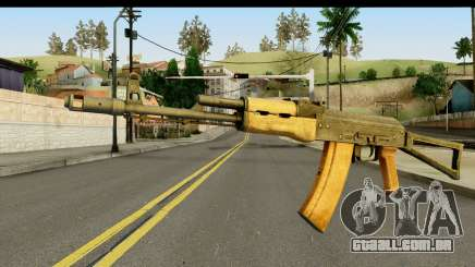 AKS-74 Madeira clara para GTA San Andreas