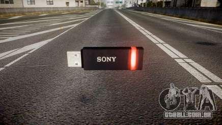 A unidade flash USB da Sony vermelho para GTA 4