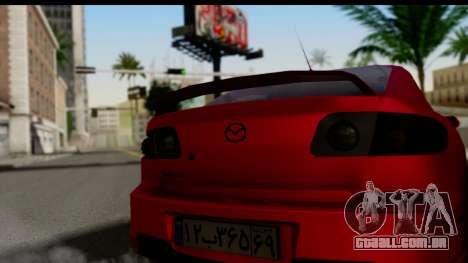 Mazda 3 2008 para GTA San Andreas traseira esquerda vista