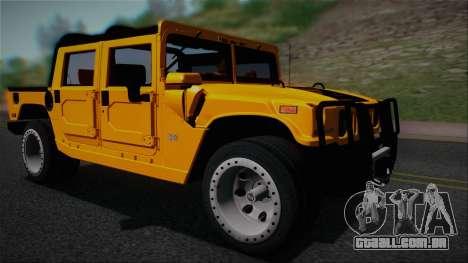 Hummer H1 Alpha OpenTop 2006 Stock para GTA San Andreas traseira esquerda vista