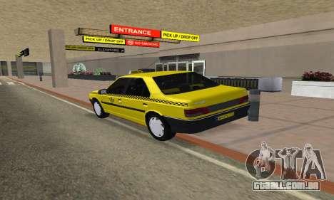 Peugeot 405 Roa Taxi para GTA San Andreas esquerda vista