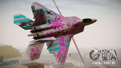 F-22 Raptor Hatsune Miku para GTA San Andreas esquerda vista
