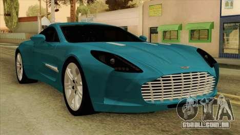 Aston Martin One 77 2010 para GTA San Andreas