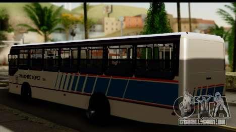 Marcopolo Torino GV Linea 29 Panchito Lopez para GTA San Andreas esquerda vista