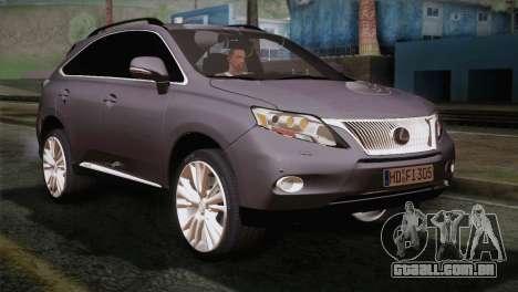 Lexus RX450H 2012 para GTA San Andreas