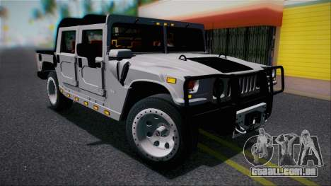 Hummer H1 Alpha OpenTop 2006 Stock para GTA San Andreas