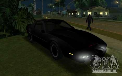 K.i.T.T. 2000 para GTA San Andreas esquerda vista