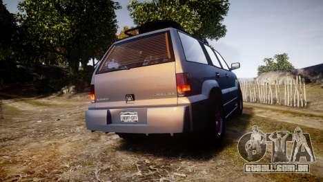 Albany Cavalcade Offroad 4X4 para GTA 4 traseira esquerda vista