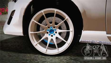 Toyota GT86 para GTA San Andreas traseira esquerda vista