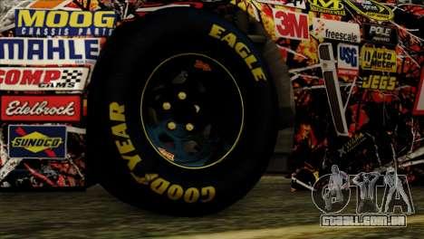 NASCAR Chevy SS 2013 para GTA San Andreas traseira esquerda vista