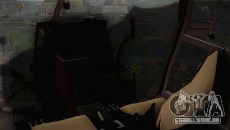 SA 342 Serbian Police Gazelle CAMO para GTA San Andreas vista traseira