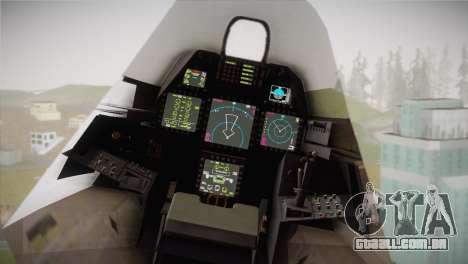 F-22 Raptor Hatsune Miku para GTA San Andreas vista direita