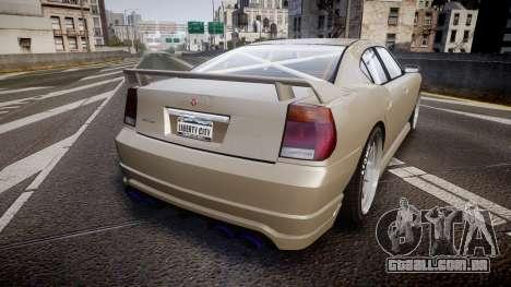 Bravado Buffalo Supercharged 2015 para GTA 4 traseira esquerda vista